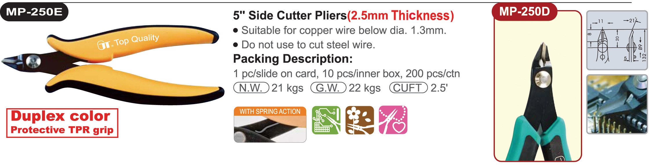 proimages/product/pliers/cutting_pliers/Diagonal_Cutters/MP-250E/MP-250E_00.jpg