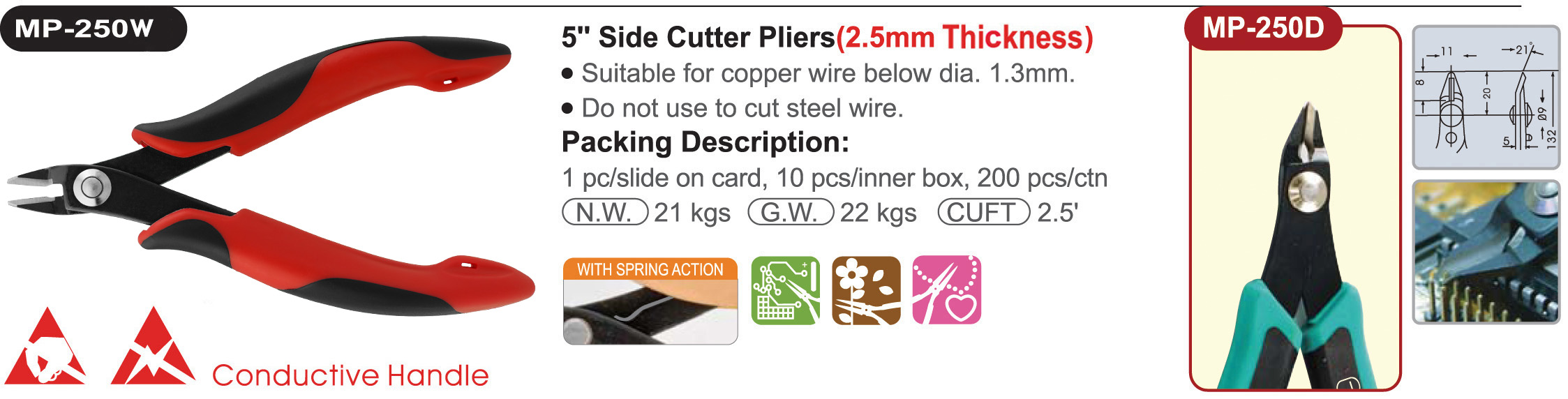 proimages/product/pliers/cutting_pliers/Electronics_Diagonal_Cutters_ESD/MP-250W/MP-250W.jpg