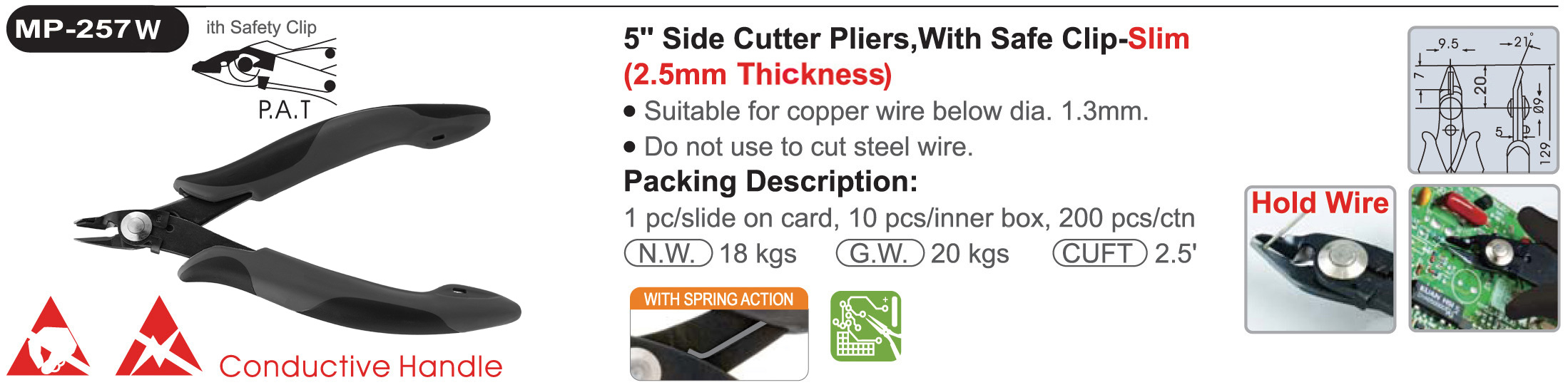 proimages/product/pliers/cutting_pliers/Electronics_Diagonal_Cutters_ESD/MP-257W/MP-257W.jpg