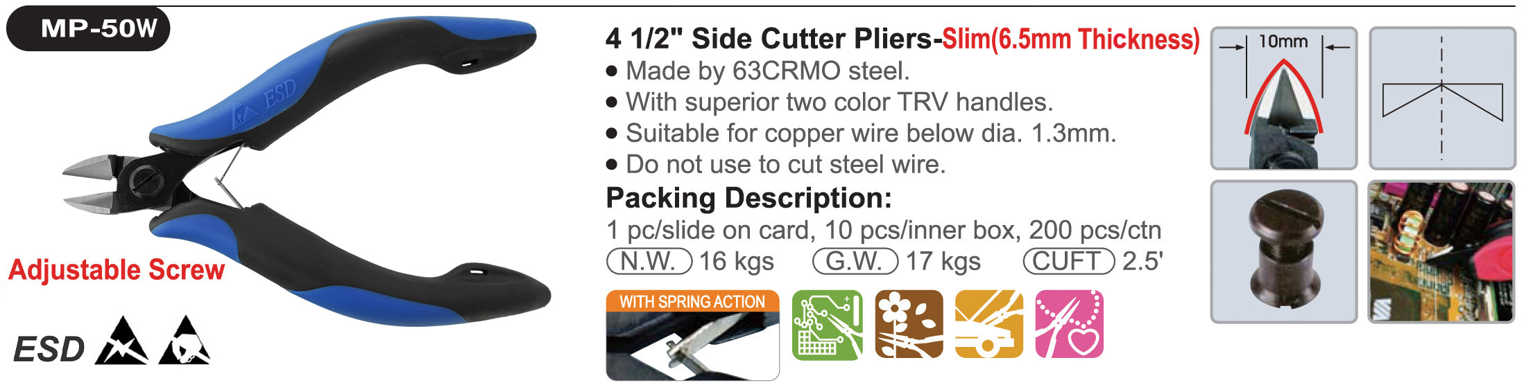 proimages/product/pliers/cutting_pliers/Precision_Electronics_Diagonal_Cutters/MP-50W/MP-50W_03.jpg